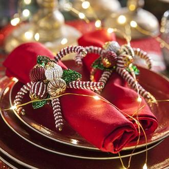2 anneaux à serviette bonbon en perle