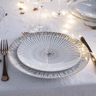 Assiette à dessert festif gold 21 cm