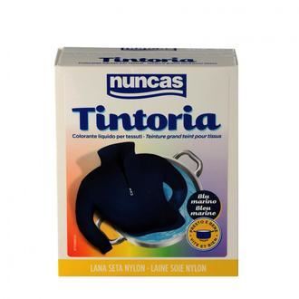NUNCAS - Tintoria - Coton lin soie viscose bleu