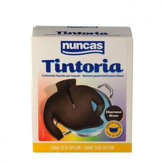 NUNCAS - Tintoria - Coton lin soie viscose brun