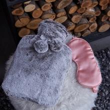 Achat en ligne Bouillotte 2L fourrure grise + masque