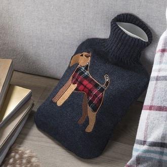 Bouillotte 2l tricotée fox terrier
