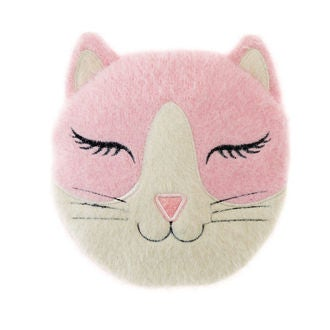 Coussin chauffant rond chat micro ondable