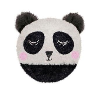 Coussin chauffant rond panda micro ondable