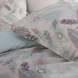 Maom - taie d'oreiller resctangle en percale imprimée lanay pink 50x70cm