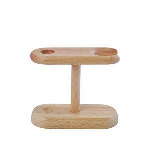Support de kit de rasage en bois de hêtre huilé