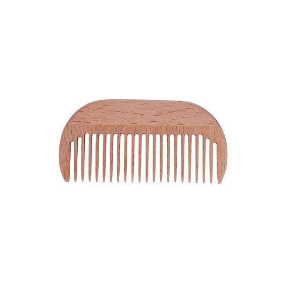 Peigne à barbe en bois de hêtre 9cm