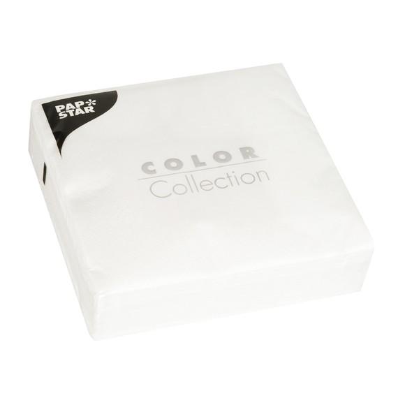 Achat en ligne 50 serviettes 33x33 cm blanc 3 plis