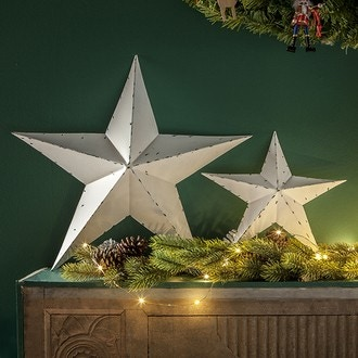 2 étoiles métal blanc 30-15cm