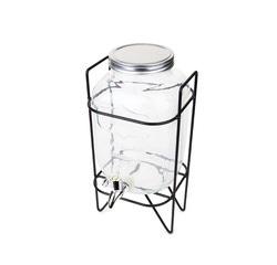 compra en línea Dispensador de bebidas de cristal con grifo y soporte (3,7 L)