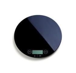 compra en línea Báscula de cocina digital redonda de cristal negro 5 kg