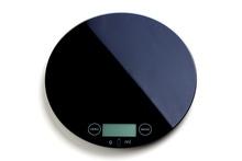 Achat en ligne Balance de cuisine électronique ronde en verre noire 5kg