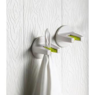 Set de 2 porte-serviettes blanc