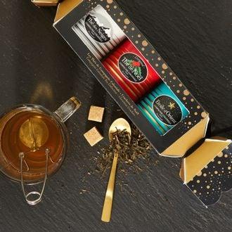 COMPAGNIE COLONIALE Cracker 3 boites métal luxe 30g ( thé des Neiges 25G, Hiver Austral 30G, Thé de Noel 30G)