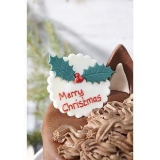 Décor en sucre merry christmas 20g