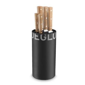 DEGLON- Bloc de 5 couteaux de cuisine manche en chêne