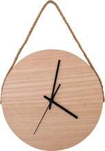 Achat en ligne Horloge ronde en bois avec une lanière en corde 30cm