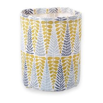 MINI LABO - Vide poche en coton enduit sérigraphié Branches 25x20cm