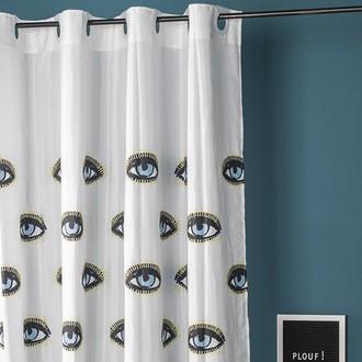 Zodio - rideau de douche 100% polyester eyes 180x200cm