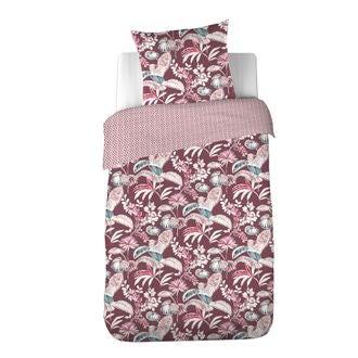 Maom - housse de couette en percale imprimée think pink 140x200cm