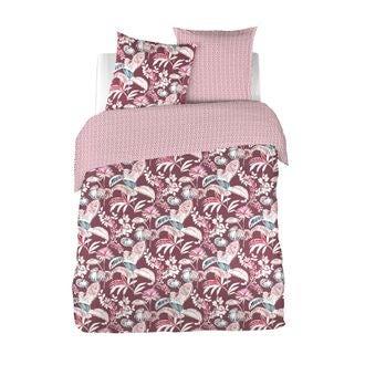 Maom - housse de couette en percale imprimée think pink 200x200cm