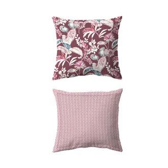 Maom - taie d'oreiller carrée en percale imprimée think pink 65x65cm