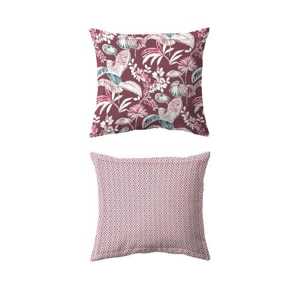 Taie d'oreiller carrée en percale imprimée Think Pink65x65cm