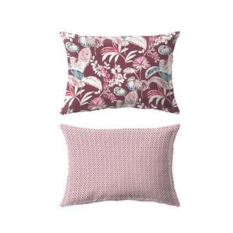 Maom - taie d'oreiller resctangle en percale imprimée think pink 50x70cm