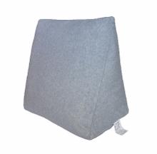 Achat en ligne Coussin de lecture Triangle en coton gris