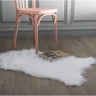 ZODIO- Tapis fausse fourrure poils longs Tenor blanc 60x90cm