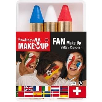 Crayons de maquillage tricolore