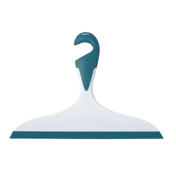 Spatola pulisci doccia da appendere blu miami 23x17cm