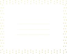 Achat en ligne Enveloppe blanche/doré pola 10,2x12,7cm