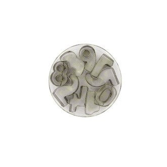 PATISDECOR - Boîte 9 emporte-pièces inox chiffres