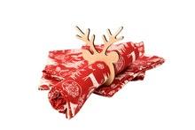 Achat en ligne 4 ronds de serviettes Renne en bois