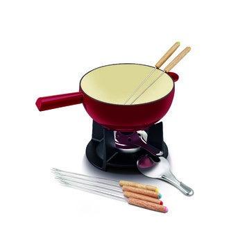 BEKA - Service à fondue fromage 9 pièces en fonte émaillé Belledone