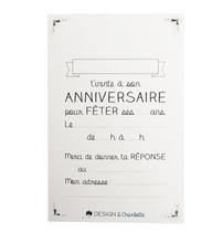 Achat en ligne 8 cartes d'invitations et enveloppes 13x8,5cm