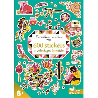 Hachette - 600 stikers + coloriages fantaisies