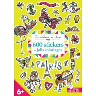 Hachette - 600 stikers + jolis coloriages
