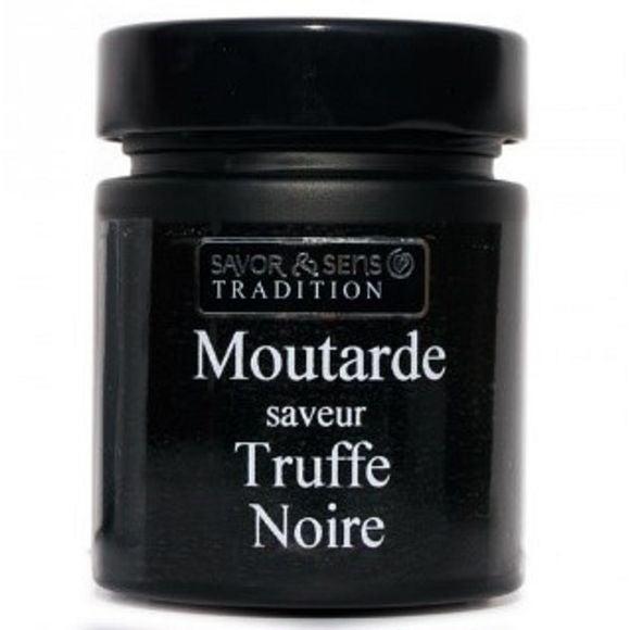 Moutarde truffe noire pot noir 130g