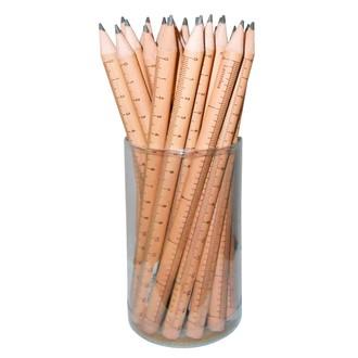 Indispensables crayon de papier motif règles 17,5cm