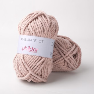 PHILDAR - Pelote phil matelot rose des sables 50gr