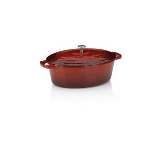 Cocotte ovale en fonte Calido rouge  6,5l