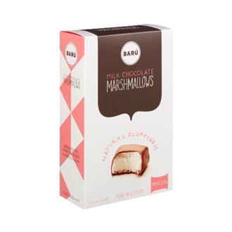 BARU Guimauves à la vanille au chocolat au lait boite de 120g