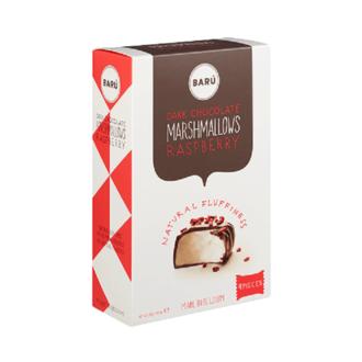 BARU Guimauves à la vanille au chocolat noir à la framboise boite de 120g