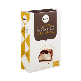 BARU Guimauves au chocolat au lait au caramel noir boite de 120g