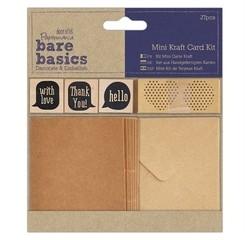 Achat en ligne Indispensable Kit 8 mini-cartes et enveloppes kraft stickers