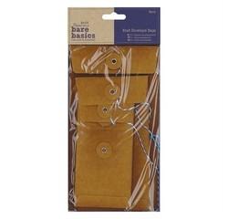 Achat en ligne Indispensables 6 enveloppes rect ficelle kraft 11-7x13-20cm