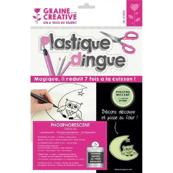 Plastique dingue phosphorescent 3 feuilles