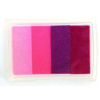 Tampons encreur à message avec encre rose/violet